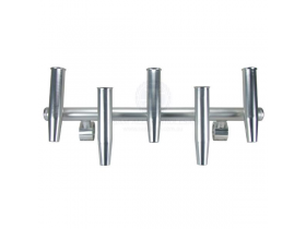 Rod holder (5) anodised silver